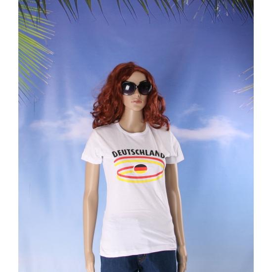 T shirts met Duitsland opdruk voor dames