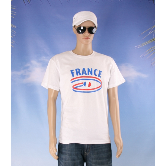 T shirts met Franse opdruk volwassenen