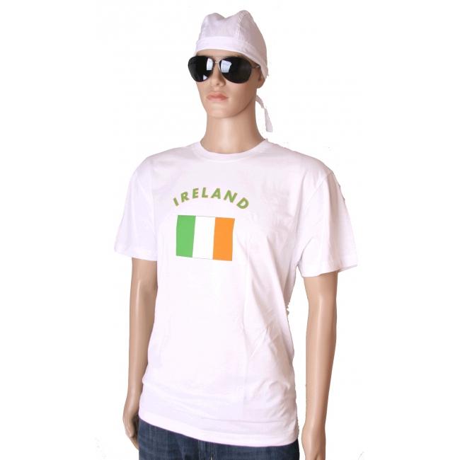 T shirts met Ierland vlag print
