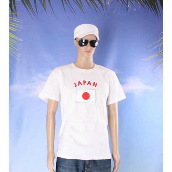 T shirts met Japanse vlag print