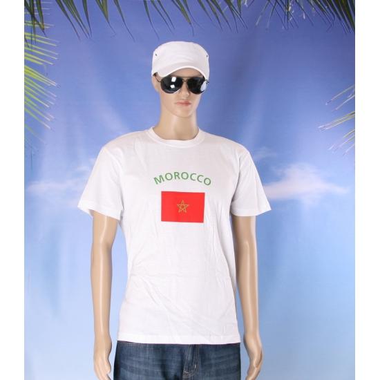 T shirts met Marokkaanse vlag print