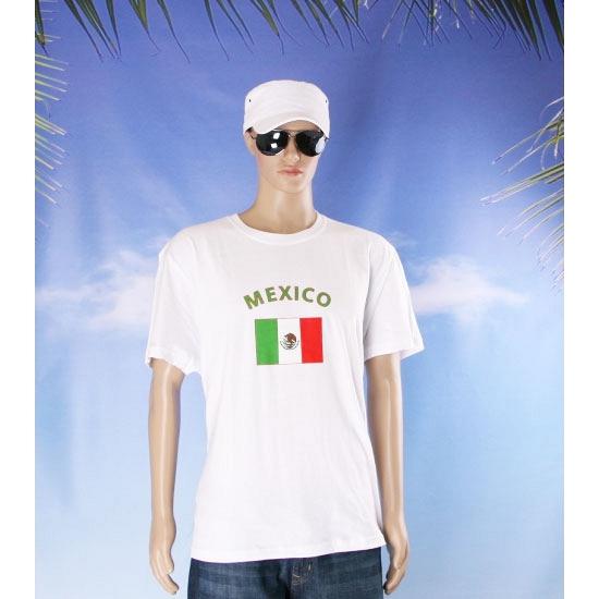 T shirts met Mexicaanse vlag print
