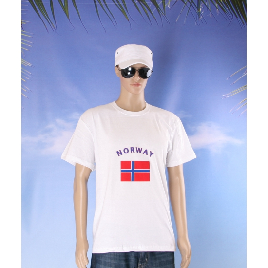 T shirts met Noorse vlag
