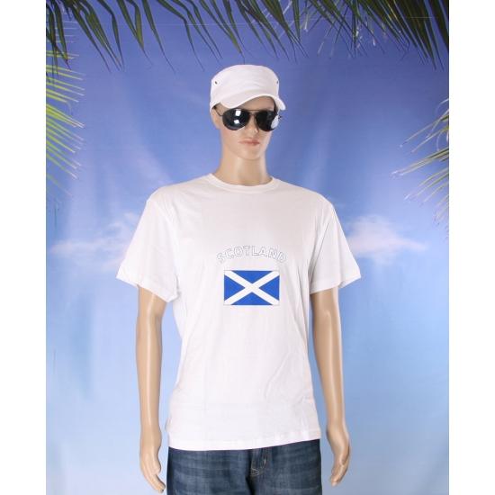 T shirts met Schotse vlag print