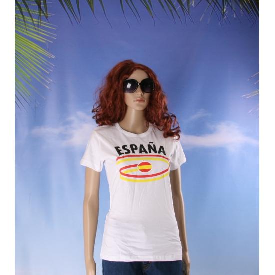 T shirts met Spanje opdruk voor dames