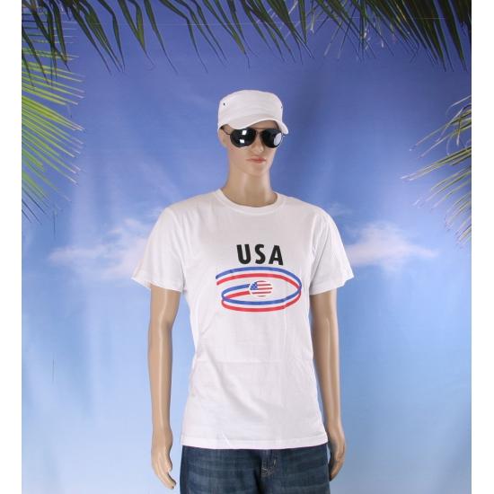 T shirts met USA opdruk volwassenen
