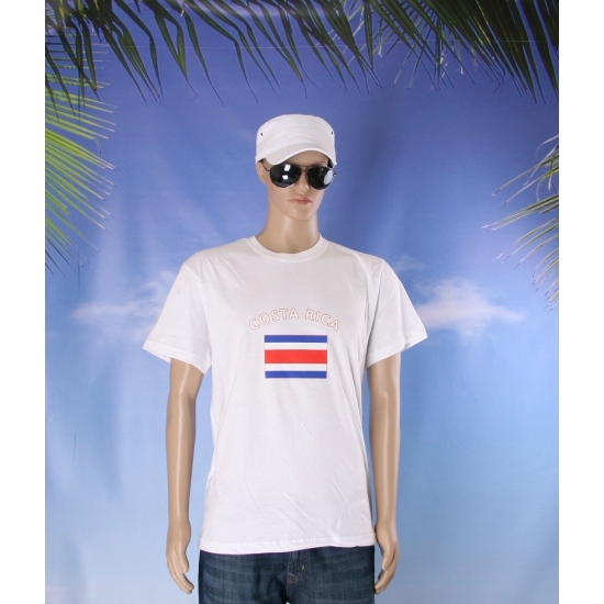 T shirts van vlag Costa Rica