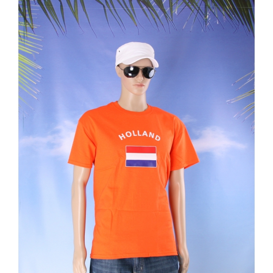 T shirts van vlag Holland oranje