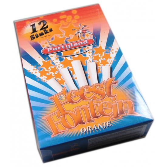 Taart ijsfontein oranje per 1