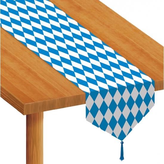 Tafellopers blauw wit geruit
