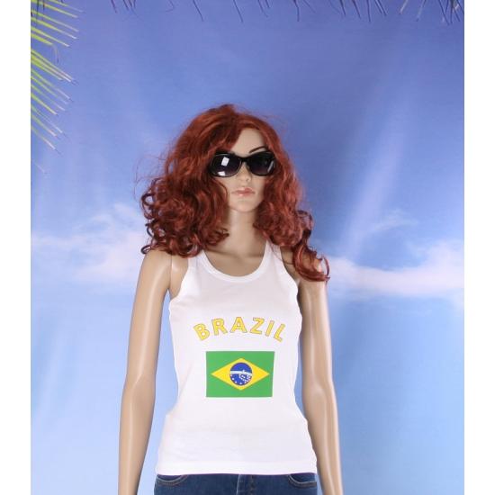 Tanktop met Brasiliaanse vlag print voor dames