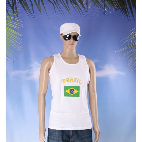 Tanktop met Braziliaanse vlag print