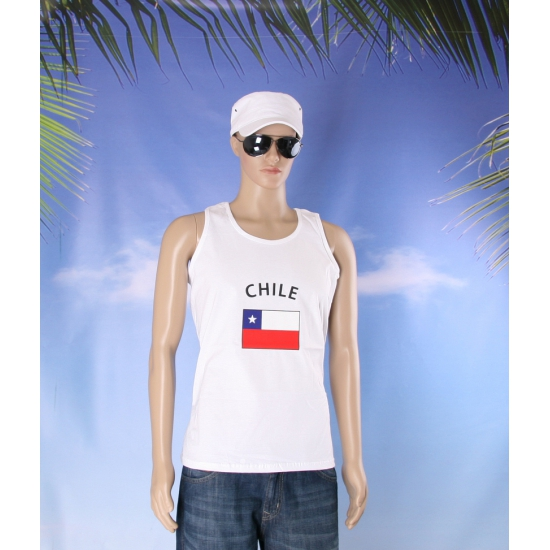 Tanktop met Chili vlag print