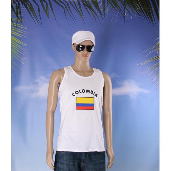 Tanktop met Colombia vlag print
