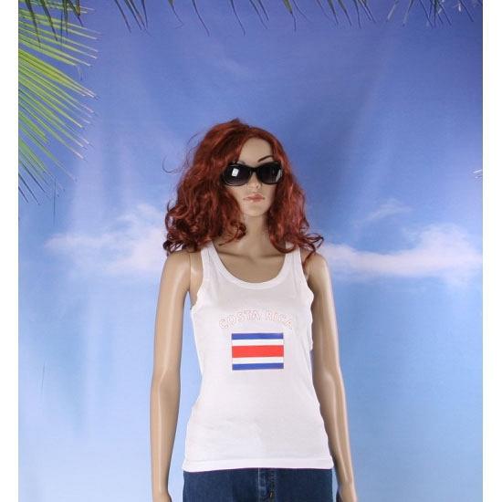 Tanktop met Costa Rica vlag print voor dames