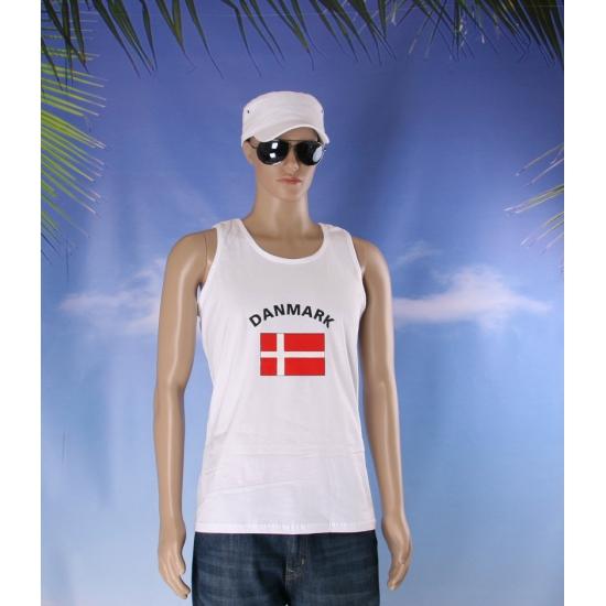 Tanktop met Denemarken vlag print
