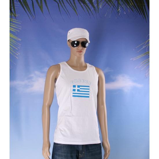 Tanktop met Griekenland vlag print
