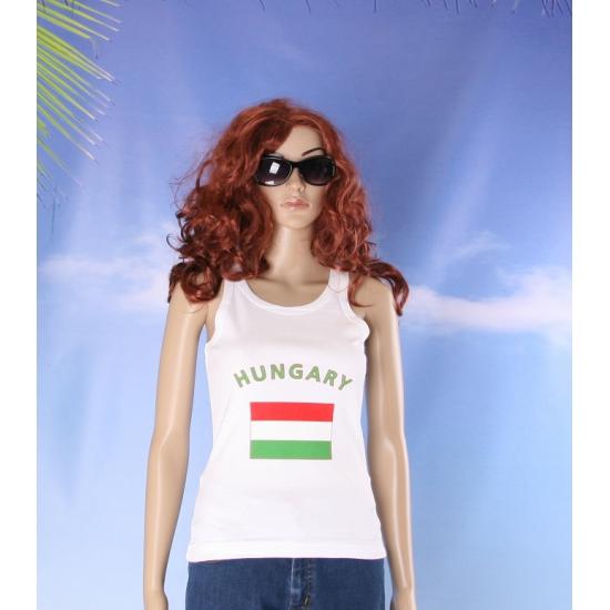 Tanktop met Hongaarse vlag print voor dames