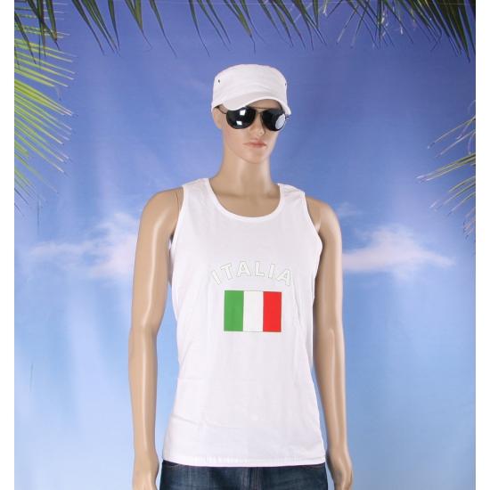 Tanktop met  Italiee vlag print