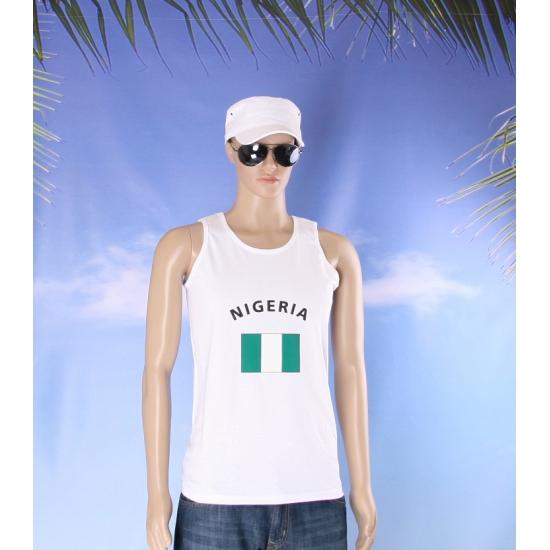 Tanktop met Nigeria vlag print