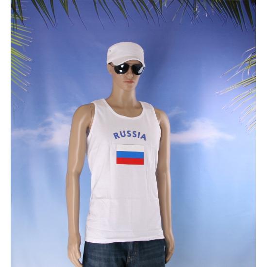 Tanktop met Russia vlag print