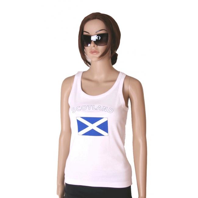 Tanktop met Schotse vlag print voor dames