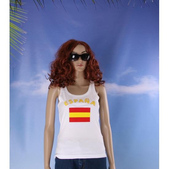 Tanktop met Spaanse vlag print voor dames