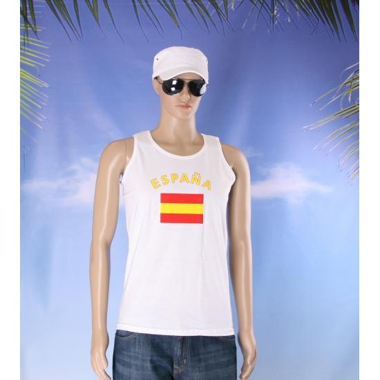 Tanktop met Spaanse vlag print