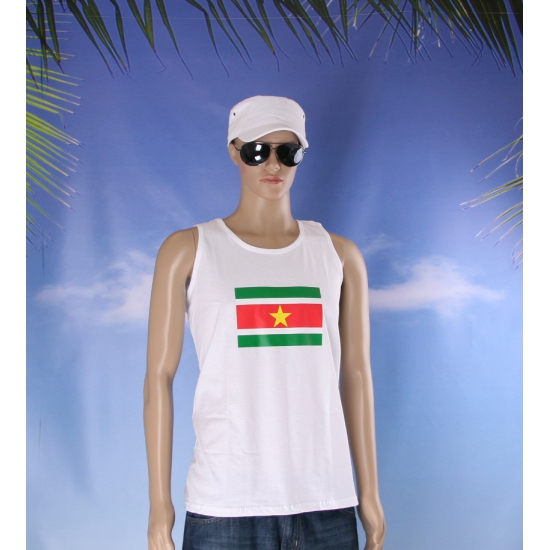 Tanktop met Surinaamse vlag print