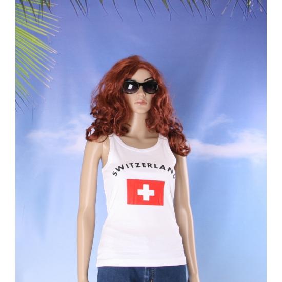 Tanktop met Zwitserse vlag print voor dames