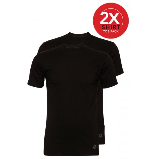 Ten Cate zwarte t shirts katoen 2 pak
