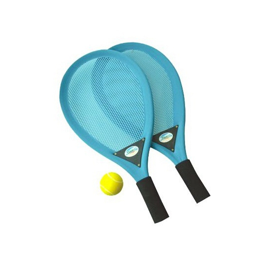 Tennisset met rackets en softbal