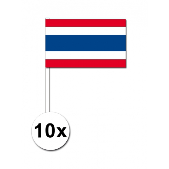 Thailand zwaai vlaggetjes 10x