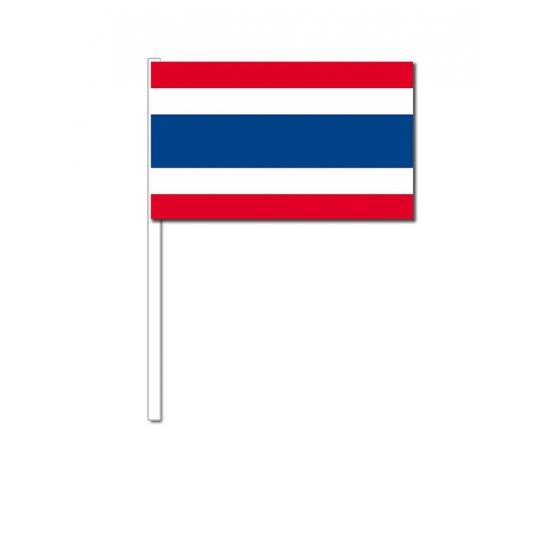 Thailand zwaai vlaggetjes 12 x 24 cm