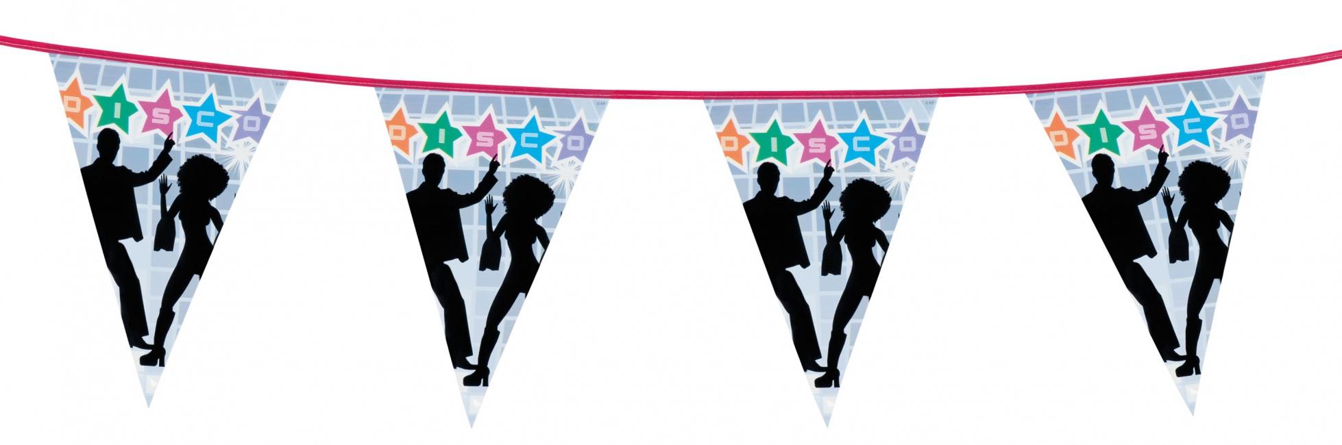 Thema disco vlaggenlijn 6 m