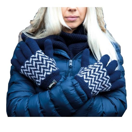 Thinsulate handschoenen blauw grijs
