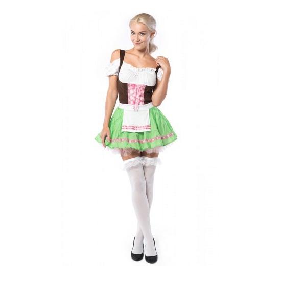 Tirol jurkje roze met groen voor dames