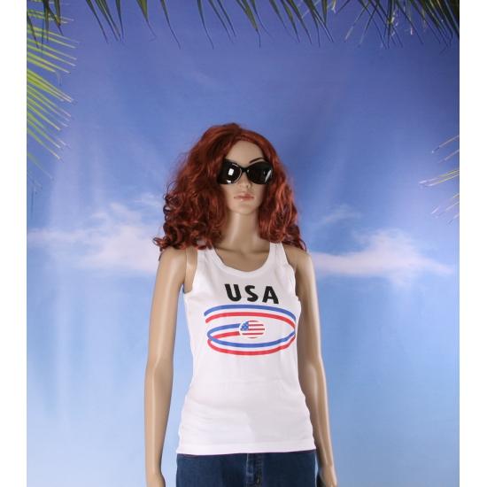 Top met USA opdruk voor dames