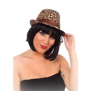 Trilby hoed met panter print