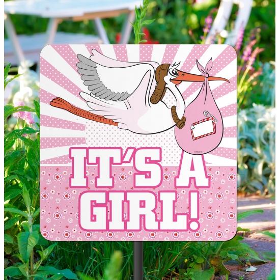 Tuinbord decoratie geboorte meisjes