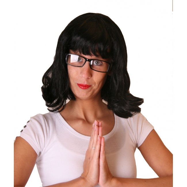 Ushi verkleed accessoires pruik en bril