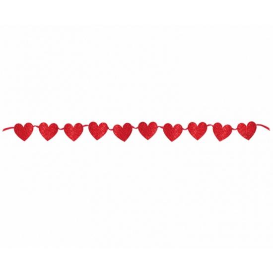 Valentijnsdag hartjes vlaggenlijn