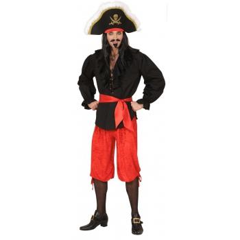 Velours piraten broeken rood