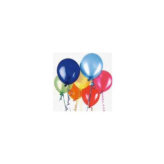 Verjaardag servetten met ballonnen