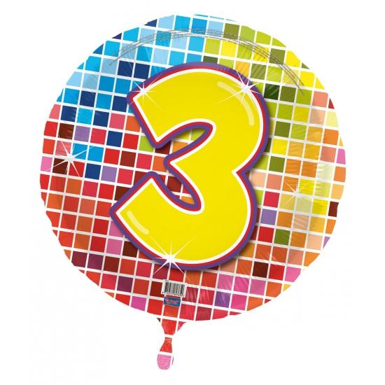 Verjaardagsballon 3 jaar helium