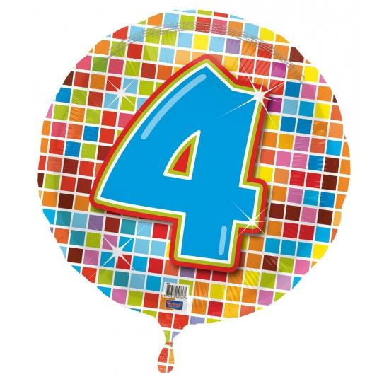Verjaardagsballon 4 jaar helium