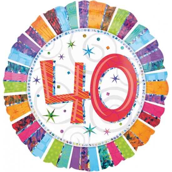 Verjaardagsballon 40 jaar helium