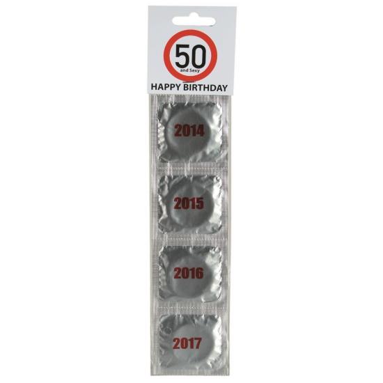 Verkeersbord condooms 50 jaar