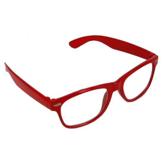 Verkleedbril  rood