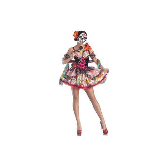 Verkleedkostuum Day of the Dead dames jurk